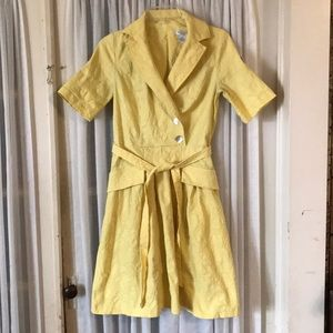 Vintage Liz Claiborne yellow dress 6 Petite women